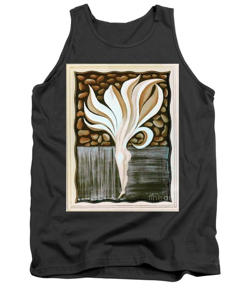 Tank Top featuring the painting Female Petal by Fei A
