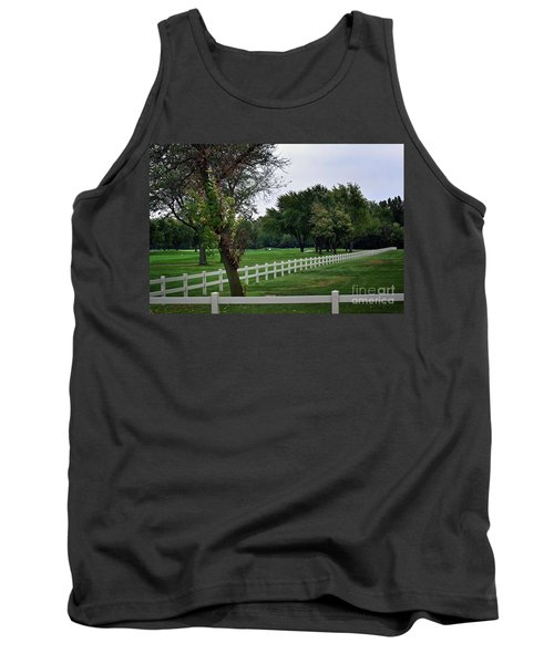 Fence On The Wooded Green Tank Top