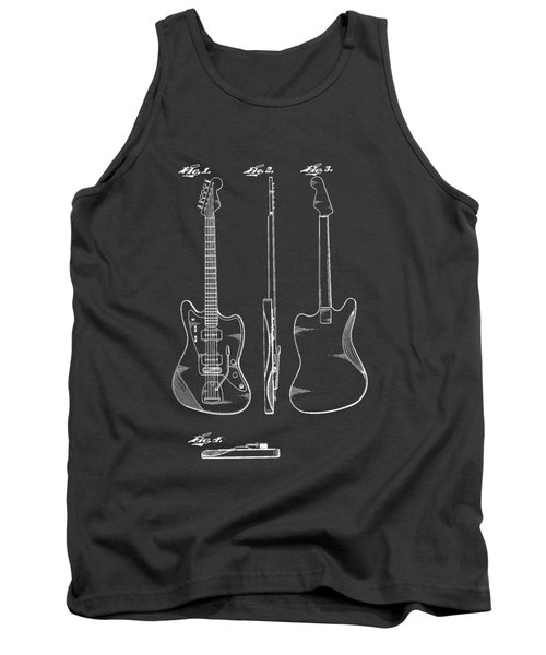Fender Guitar Drawing Tee Tank Top by Edward Fielding