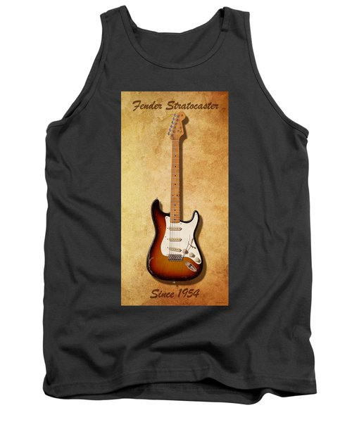 Tank Top featuring the digital art Fender Stratocaster Since 1954 by WB Johnston