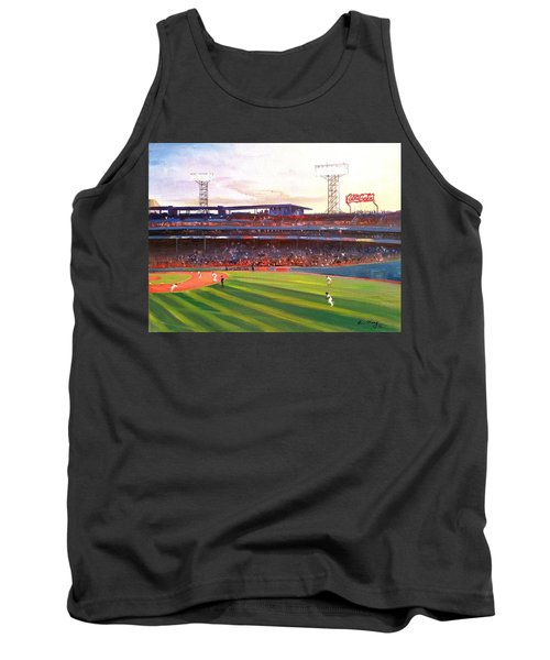 Tank Top featuring the painting Fenway Park by Rose Wang
