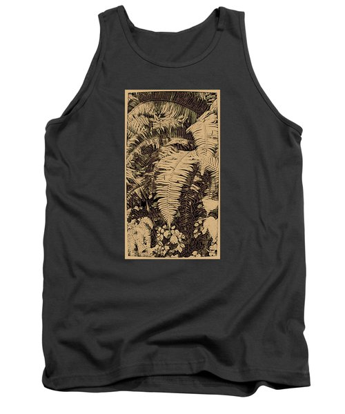 Fern Art No4 Tank Top by Bonnie Bruno