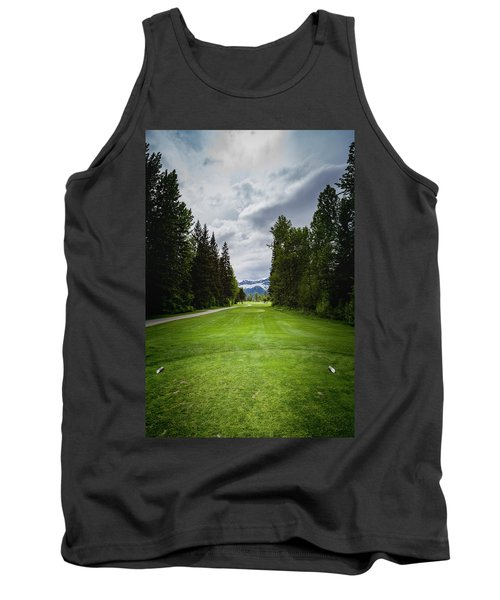 Tank Top featuring the photograph Fernie Tee Box by Darcy Michaelchuk