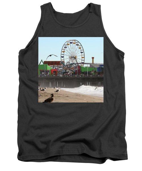 Ferris Wheel At Santa Monica Pier Tank Top