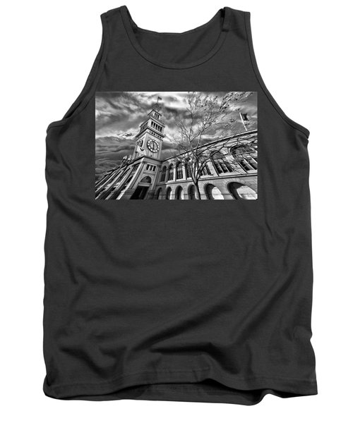 Ferry Building Black  White Tank Top