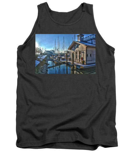 Ferry Harbour In Winter Tank Top