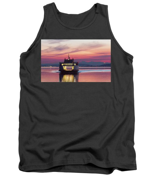 Ferry Issaquah Docking At Dawn Tank Top by E Faithe Lester