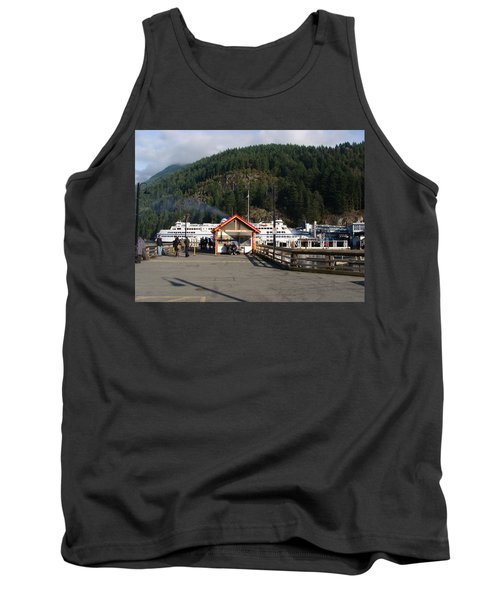 Ferry Landed At Horseshoe Bay Tank Top by Rod Jellison
