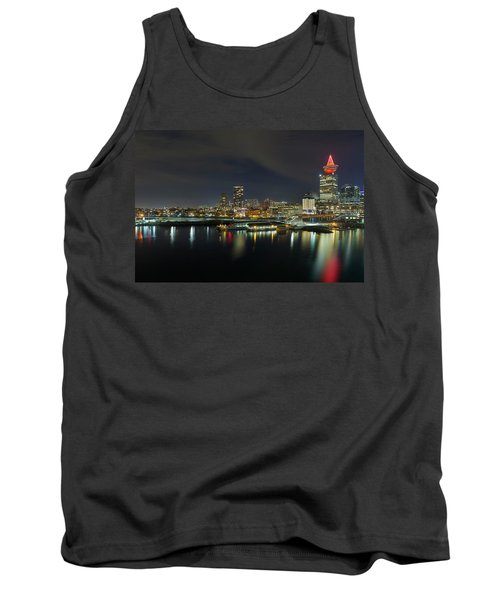 Ferry Terminal In Vancouver Bc At Night Tank Top