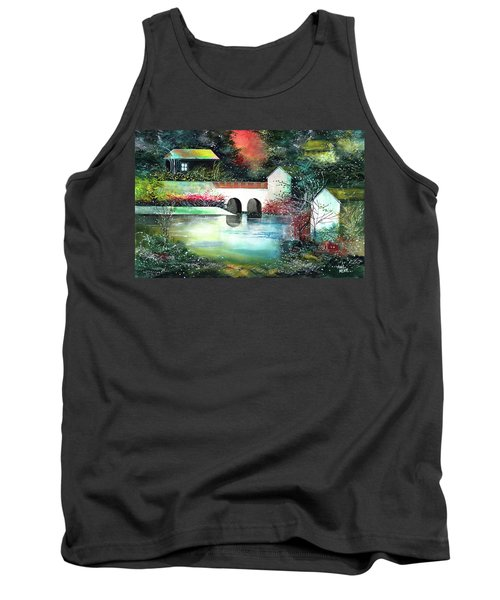 Tank Top featuring the painting Festival Of Lights by Anil Nene