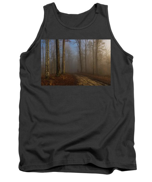 Foggy Morning In The Forest Tank Top