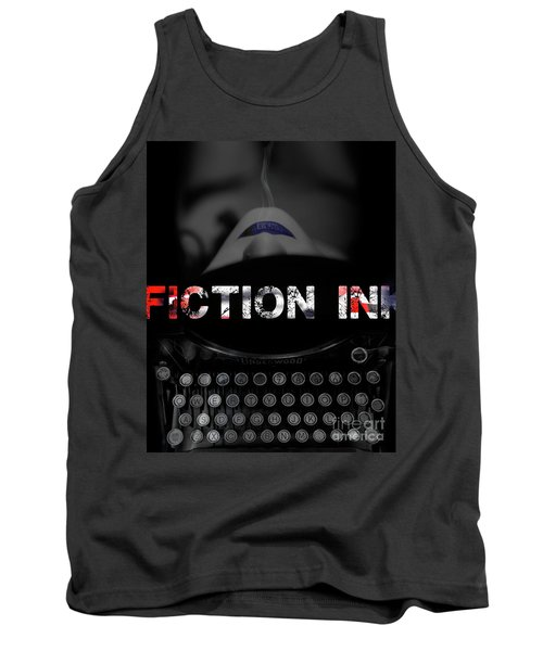 Tank Top featuring the digital art Fiction Ink by Nola Lee Kelsey
