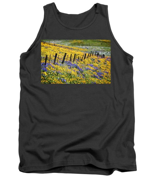 Field Of Gold And Purple Tank Top