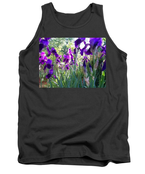 Tank Top featuring the digital art Field Of Irises by Barbara S Nickerson