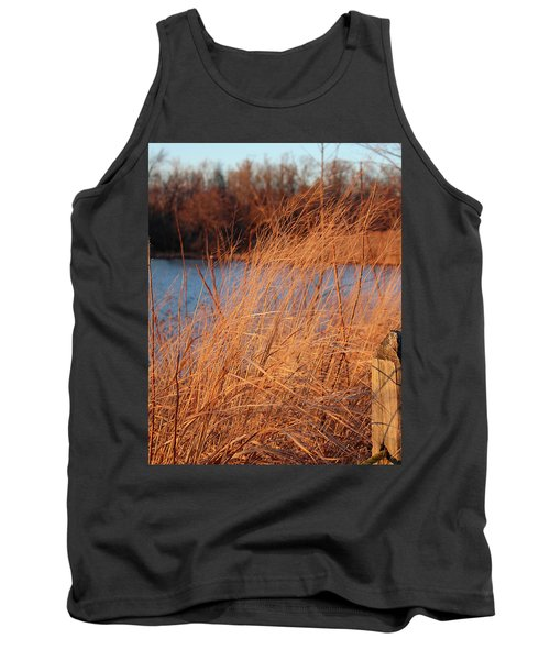 Amber Brush On The River Tank Top