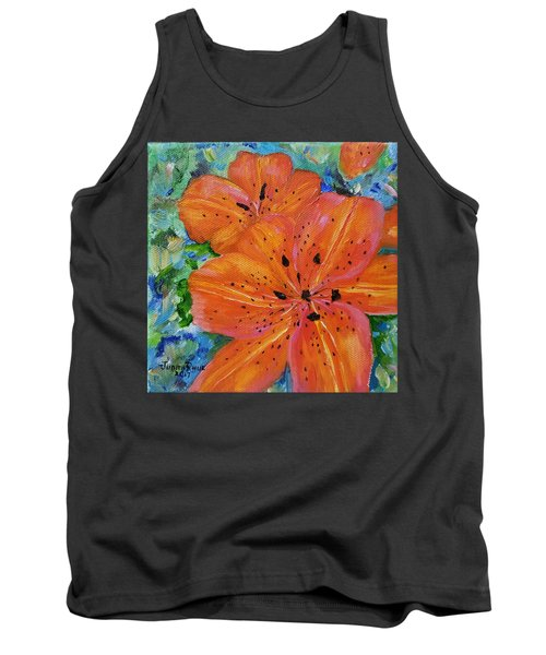 Tank Top featuring the painting Fierce Tiger by Judith Rhue