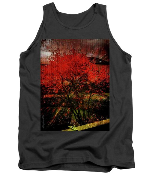 Tank Top featuring the photograph Fiery Dance by Mimulux patricia no No