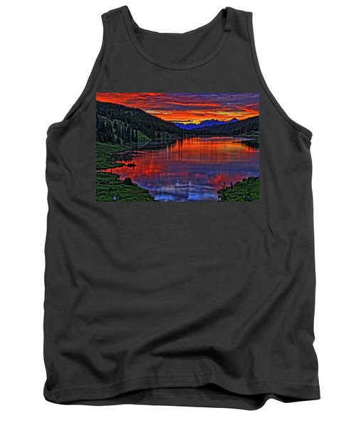 Tank Top featuring the photograph Fiery Lake by Scott Mahon