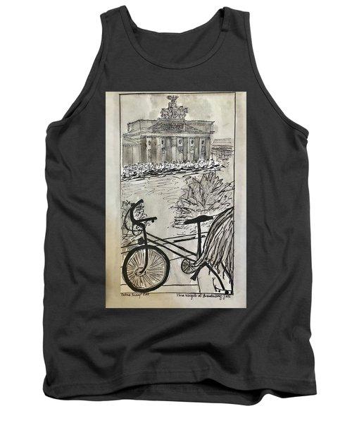 Fina And Bicycle At Brandenburg Gate Tank Top