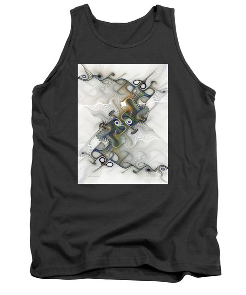Tank Top featuring the digital art Fine Traces by Karin Kuhlmann