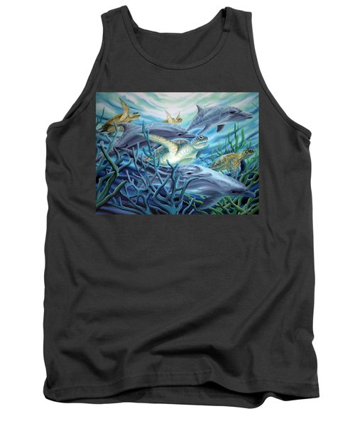 Fins And Flippers Tank Top