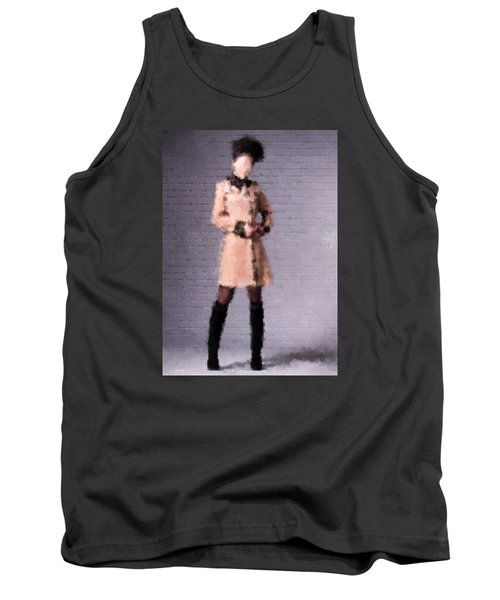 Tank Top featuring the digital art Fiona by Nancy Levan
