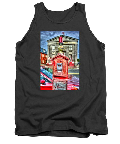 Fire Alarm Box 375 In Painterly Tank Top