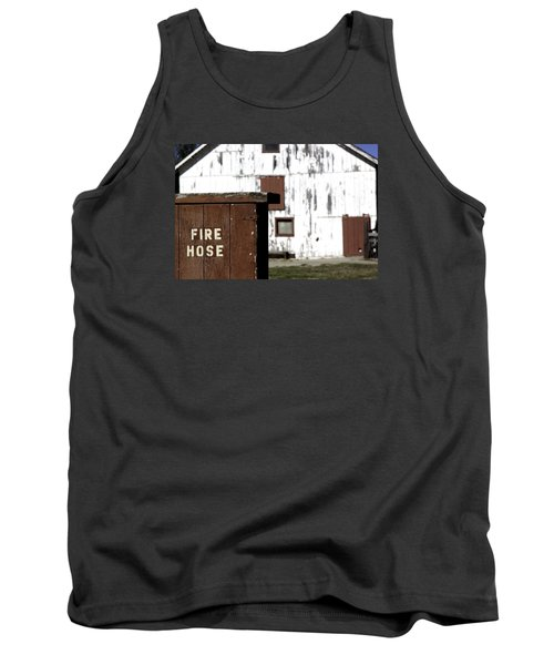Tank Top featuring the photograph Fire Hose by Lora Lee Chapman