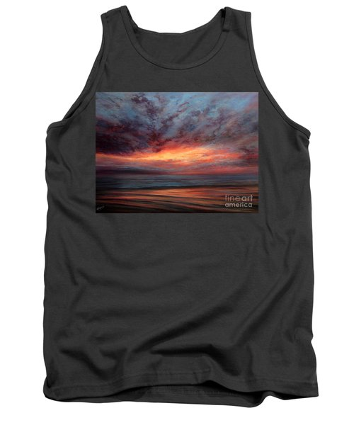 Fire In The Sky Tank Top by Valerie Travers