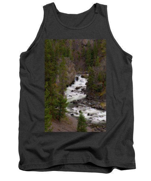 Tank Top featuring the photograph Firehole Canyon by Steve Stuller