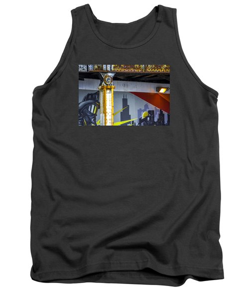 Fireman At Addison And Lincoln V4 Tank Top by Raymond Kunst