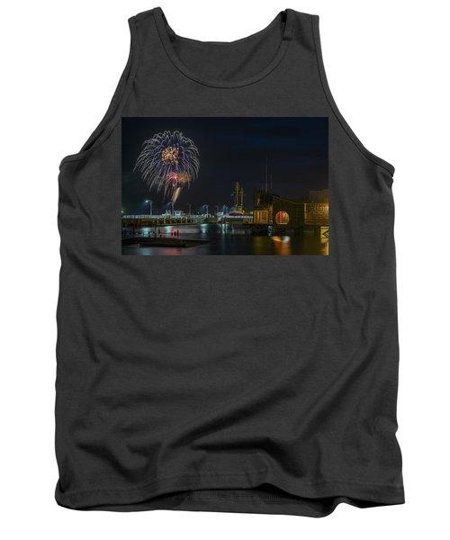Fireworks And 17th Street Docks Tank Top