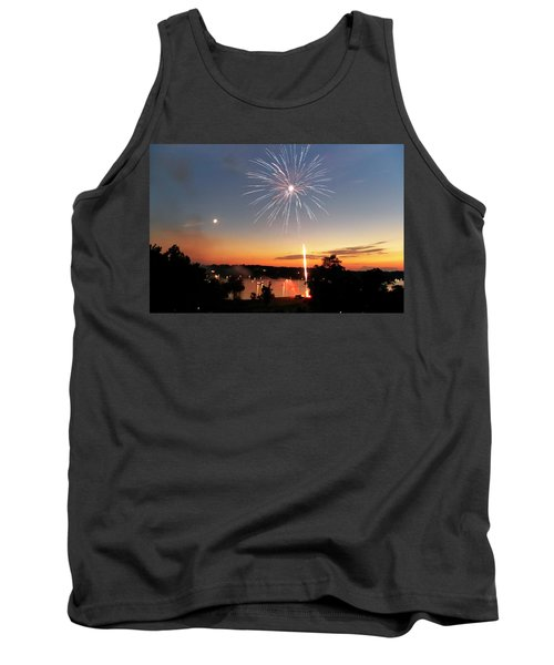 Fireworks And Sunset Tank Top