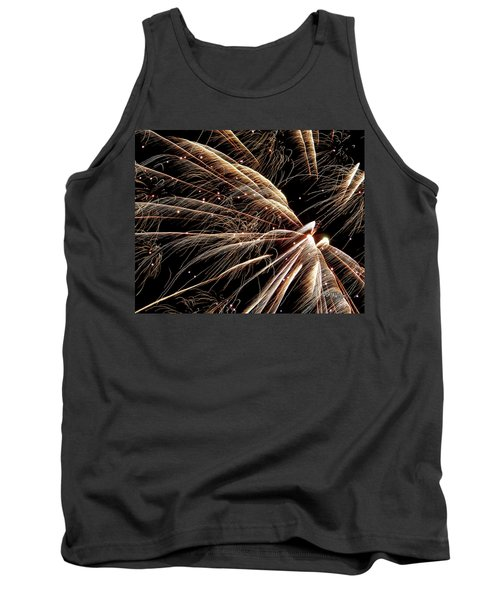 Tank Top featuring the photograph Fireworks Evolution #0710 by Barbara Tristan