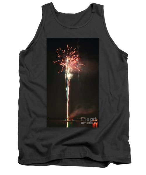 Fireworks On The Lake Tank Top