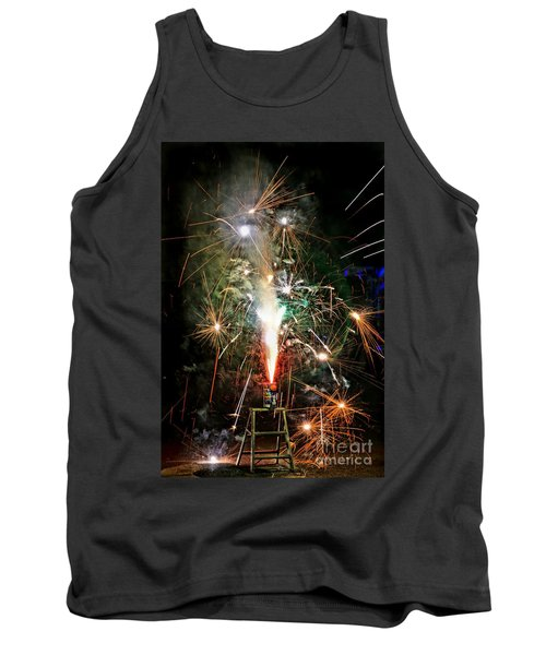 Tank Top featuring the photograph Fireworks by Vivian Krug Cotton
