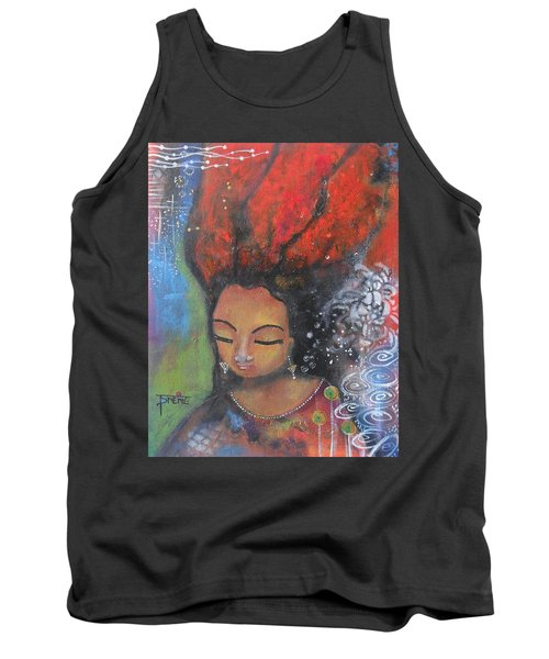 Firey Hair Girl Tank Top by Prerna Poojara