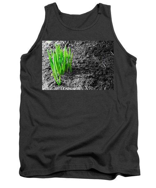 First Green Shoots Of Spring And Dirt Tank Top