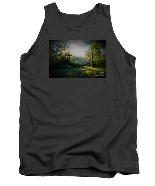 Tank Top featuring the painting First Sun by Mim White
