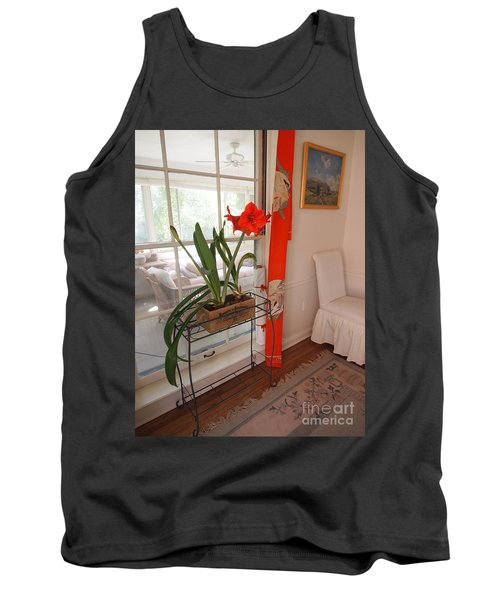 Tank Top featuring the photograph First There Was Red by Nancy Kane Chapman