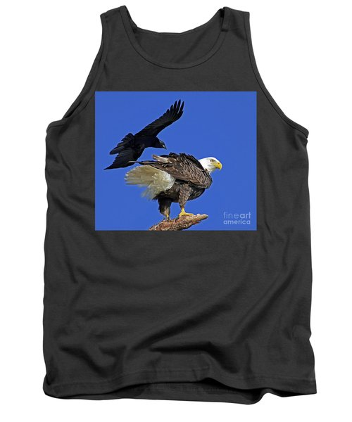 Fish Crow Dive Bombs Eagle Tank Top