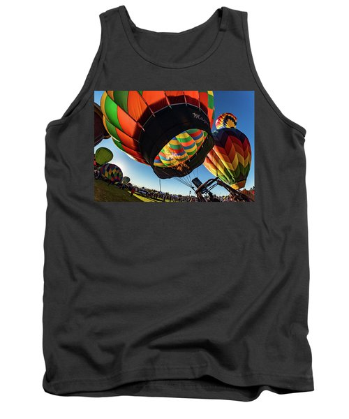 Fish Eye View Of The Balloon Races Tank Top by Janis Knight