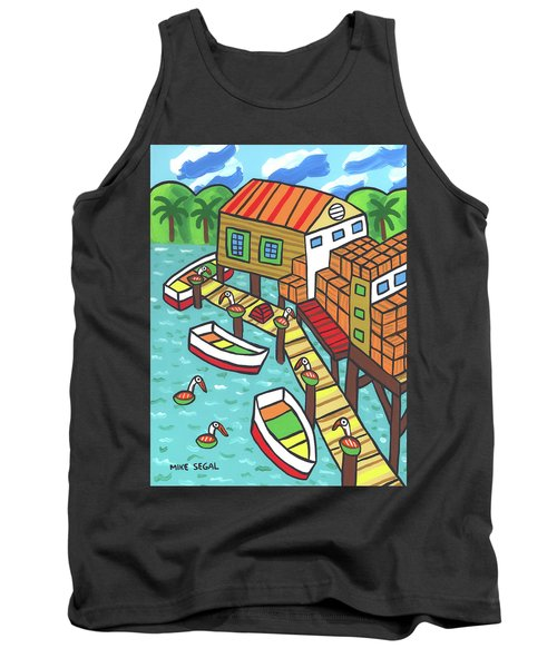 Fish House-cedar Key Tank Top