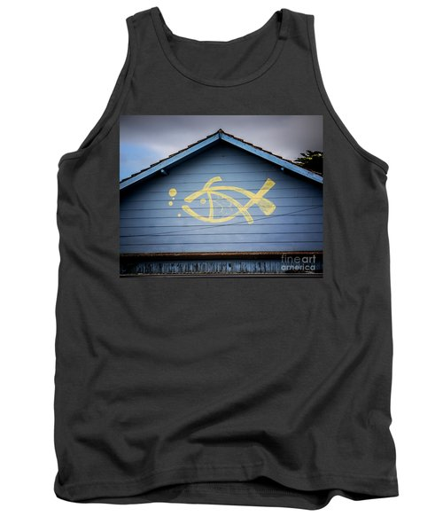 Tank Top featuring the photograph Fish House by Perry Webster