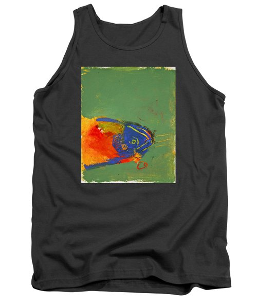 Fish Pondering The Anomaly Of Mans Anamnesis Tank Top by Cliff Spohn