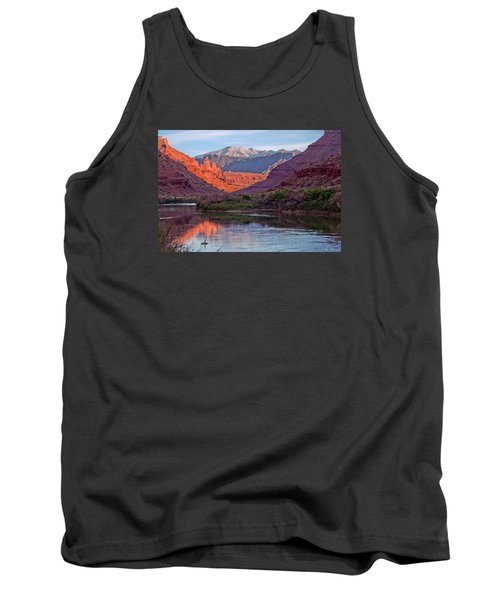 Fisher Towers Sunset Reflection Tank Top