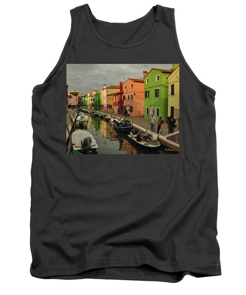 Fisherman At Work In Colorful Burano Tank Top