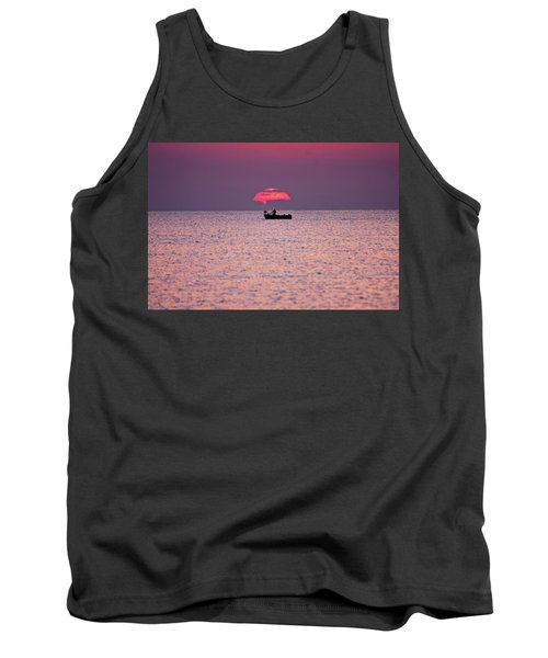 Tank Top featuring the photograph Fisherman by Bruno Spagnolo