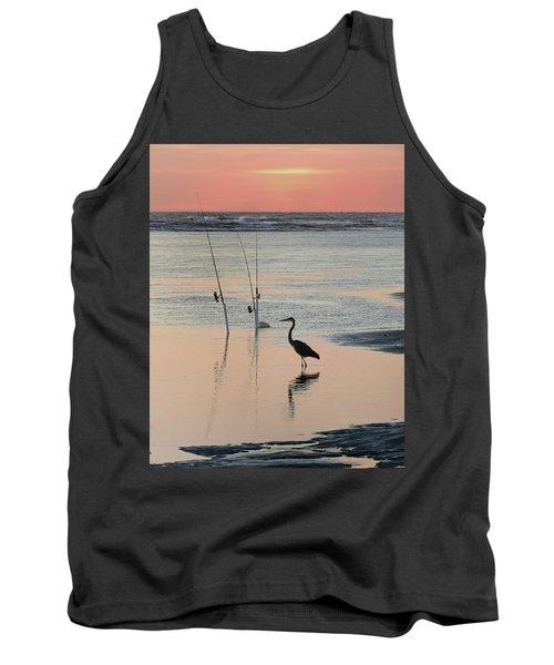 Fisherman Heron Tank Top by Deborah Smith