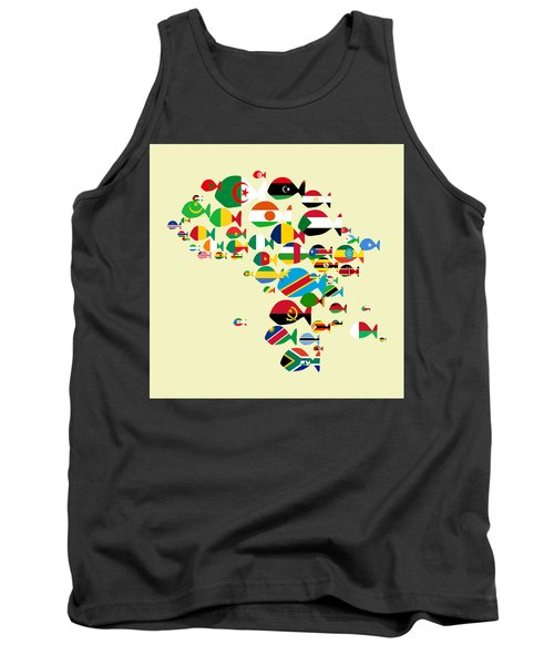 Fishes Map Of Africa Tank Top